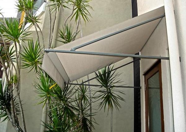 fixed fabric awning