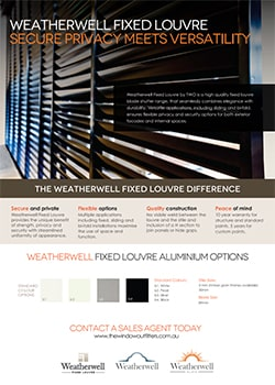 Aluminium Fixed Louvres -